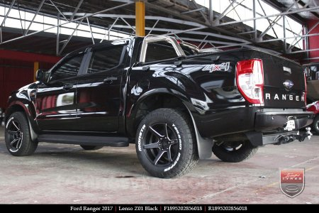 18x9.5 Lenso Z01 Black on FORD RANGER