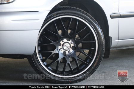 17x7.0 Lenso Type-M - MBJ on TOYOTA COROLLA