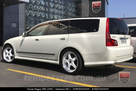 19x8.5 19x9.5 Simmons FR-1 White on NISSAN STAGEA