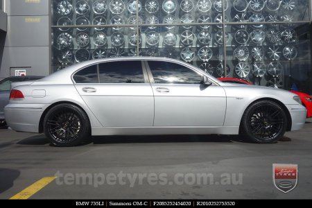20x8.5 20x10 Simmons OM-C FB on BMW 735LI