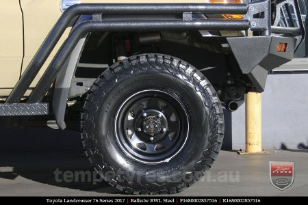 16x8.0 Ballistic BWL Steel on TOYOTA LANDCRUISER 76 SERIES
