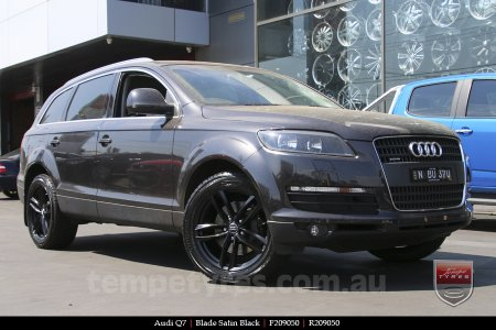 20x9.0 Blade Satin Black on AUDI Q7