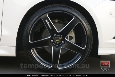 20x8.5 20x10 Simmons FR-CS Satin Black on FORD MONDEO
