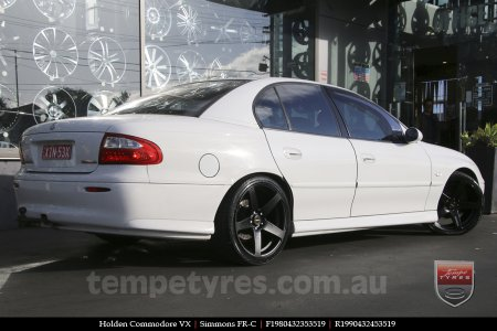 19x8.0 19x9.0 Simmons FR-C Matte Black on HOLDEN COMMODORE