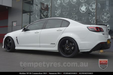 22x8.5 22x9.5 Simmons FR-1 Full Gloss Black on HOLDEN COMMODORE
