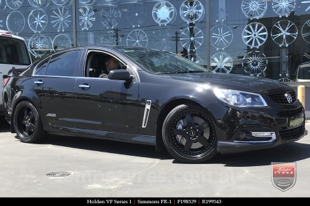 19x8.5 19x9.5 Simmons FR-1 Satin Black on HOLDEN COMMODORE VF
