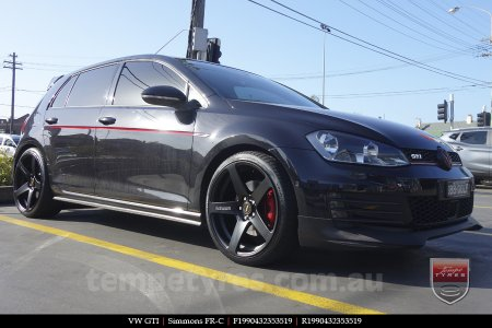 19x8.0 19x9.0 Simmons FR-C Matte Black on VW GTI