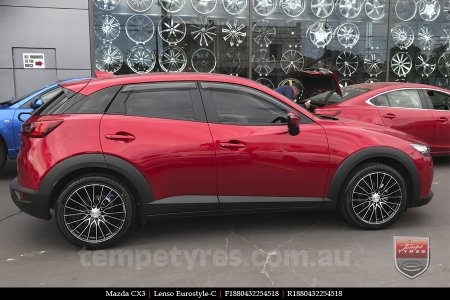 18x8.0 Lenso Eurostyle C ESC on MAZDA CX3
