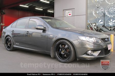 18x8.5 18x9.5 Simmons FR-1 Satin Black on FORD FALCON FG