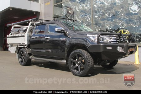 20x9.0 Simmons S6 Matte Black on TOYOTA HILUX SR5