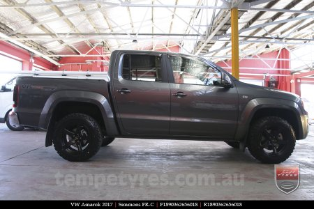 18x8.0 18x9.0 Simmons FR-C Matte Black NCT on VW AMAROK