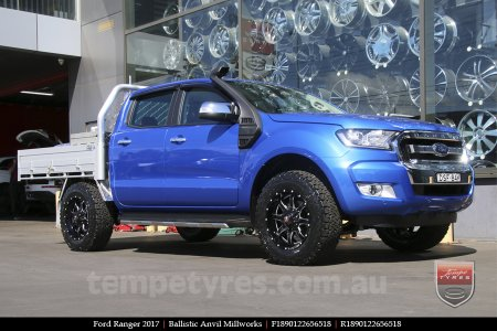 20x9.0 Ballistic Anvil Millworks on FORD RANGER