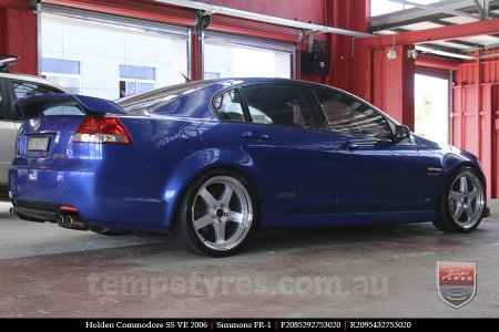 20x8.5 20x9.5 Simmons FR-1 Silver on HOLDEN COMMODORE