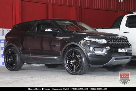 20x8.5 20x10 Simmons OM-C FB on RANGE ROVER EVOQUE
