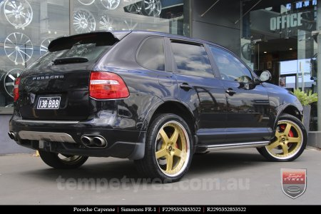 22x8.5 22x9.5 Simmons FR-1 Gold on PORSCHE CAYENNE