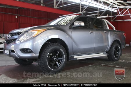 17x9.0 Simmons S6 Matte Black on MAZDA BT50