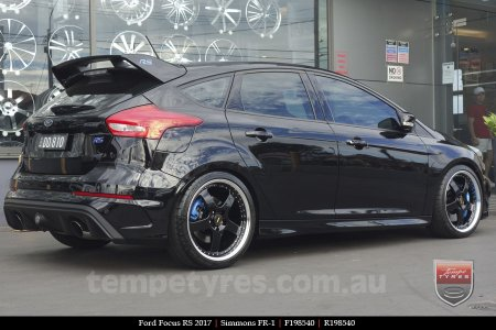 19x8.5 19x9.5 Simmons FR-1 Gloss Black on FORD FOCUS