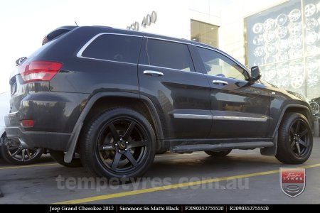 20x9.0 Simmons S6 Matte Black on JEEP GRAND CHEROKEE