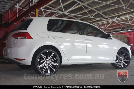 18x8.0 18x9.0 Lenso Conquista 8 CQ8 on VW GOLF