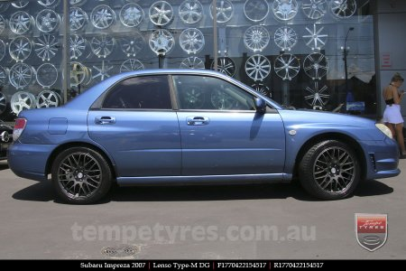 17x7.0 Lenso Type-M - DG on SUBARU IMPREZA