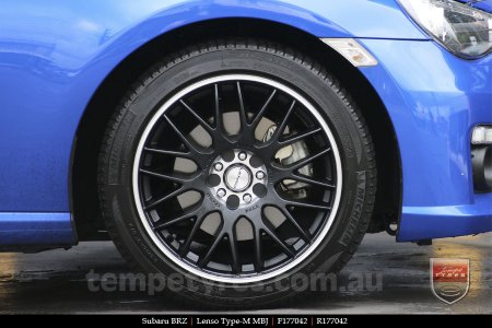 17x7.0 Lenso Type-M - MBJ on SUBARU BRZ