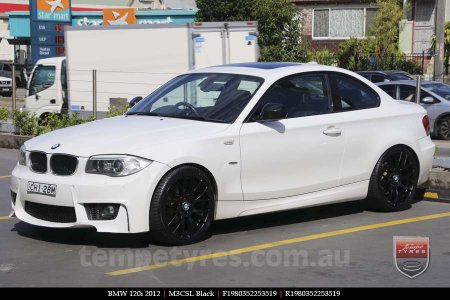 19x8.0 19x9.0 M3CSL Black on BMW 120i
