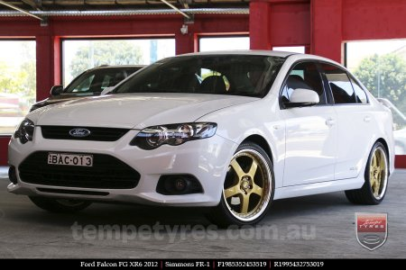 19x8.5 19x9.5 Simmons FR-1 Gold on FORD FALCON