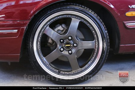 19x8.5 19x9.5 Simmons FR-1 Hyper Dark on FORD FAIRLANE