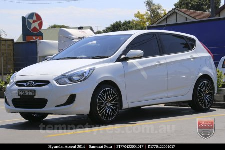 17x7.0 Samurai Fusa on HYUNDAI ACCENT