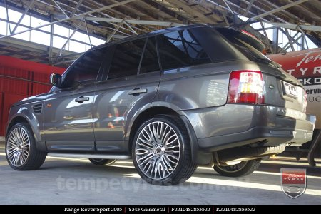 22x10 Y343 Gunmetal on RANGE ROVER SPORT