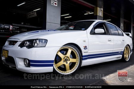 20x8.5 20x9.5 Simmons FR-1 Gold on FORD FALCON