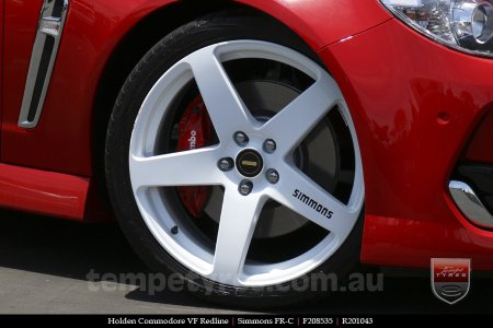 20x8.5 20x10 Simmons FR-C Full White on HOLDEN COMMODORE