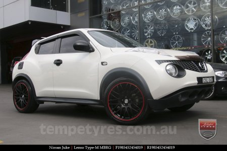 19x8.5 Lenso Type-M MBRG on NISSAN JUKE