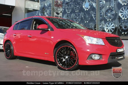 19x8.5 Lenso Type-M MBRG on HOLDEN CRUZE