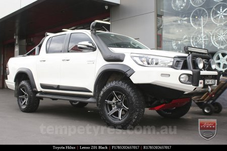 17x8.5 Lenso Z01 Black on TOYOTA HILUX