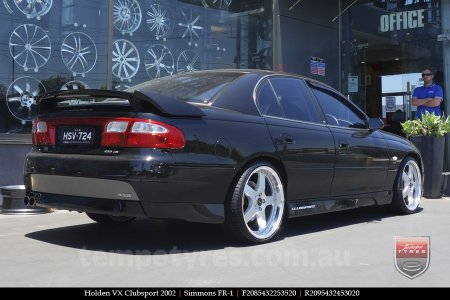 20x8.5 20x9.5 Simmons FR-1 Silver on HOLDEN VX CLUBSPORT