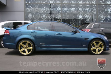 20x8.5 20x10 Simmons FR-CS Gold on HOLDEN COMMODORE