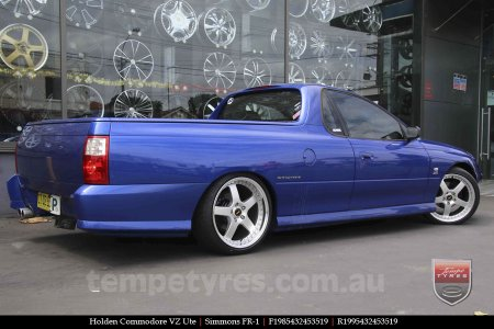 19x8.5 19x9.5 Simmons FR-1 Silver on HOLDEN COMMODORE