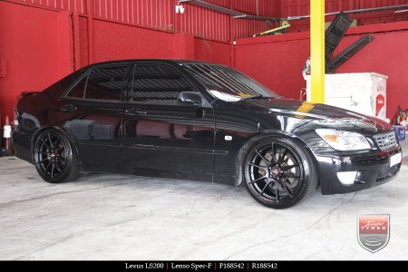 18x8.5 Lenso Spec F MB on LEXUS LS200