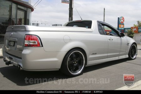 20x8.5 20x9.5 Simmons FR-1 Gloss Black on HOLDEN COMMODORE