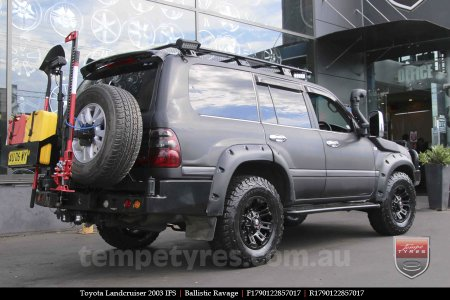 17x9.0 Ballistic Ravage Flat Black on TOYOTA LANDCRUISER