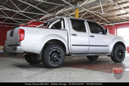 17x9.0 Ballistic Ravage Flat Black on NISSAN NAVARA D40