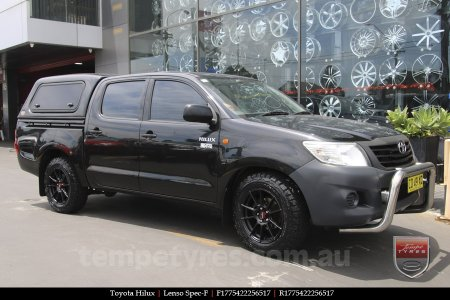 17x7.5 Lenso Spec F MB on TOYOTA HILUX
