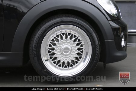 16x7.5 Lenso BSX Silver on MINI COOPER