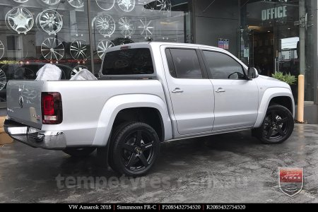 20x8.5 20x10 Simmons FR-C Full Satin Black on VW AMAROK
