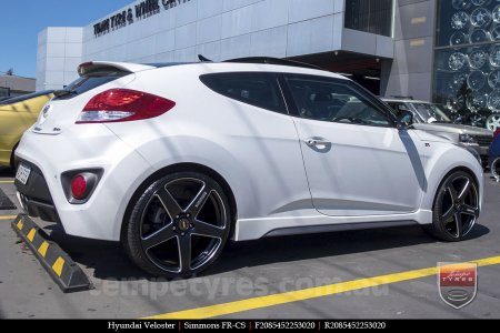 20x8.5 20x10 Simmons FR-CS Satin Black on HYUNDAI VELOSTER