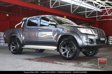 20x9.5 Lenso RTG HDW on TOYOTA HILUX SR5