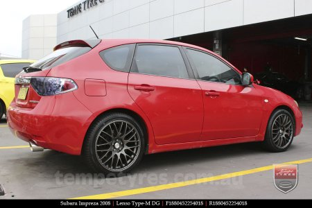 18x8.0 Lenso Type-M DG on SUBARU IMPREZA