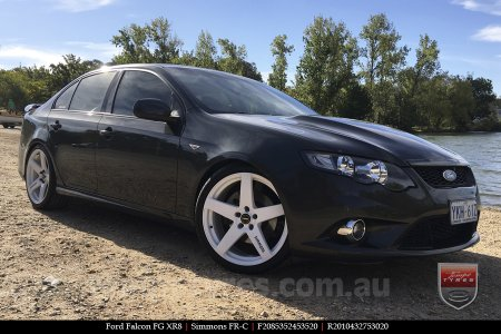20x8.5 20x10 Simmons FR-C Full White on FORD FALCON