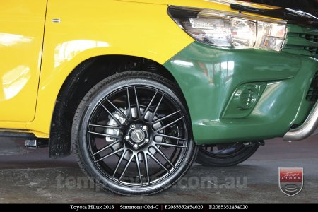 20x8.5 20x10 Simmons OM-C FB on TOYOTA HILUX